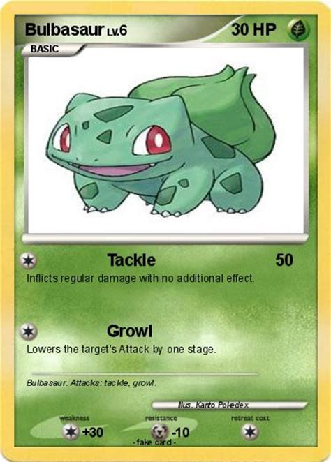 Note that you cannot transfer them if they're currently in you party within the let's go games. Pokémon Bulbasaur 166 166 - Tackle - My Pokemon Card