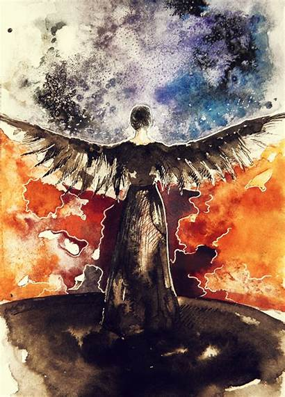 Mockingjay Watercolor Hunger Games Fan Sketch Painting