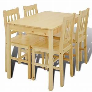 Table Avec 4 Chaises : la boutique en ligne table manger avec 4 chaises en bois naturel ~ Teatrodelosmanantiales.com Idées de Décoration