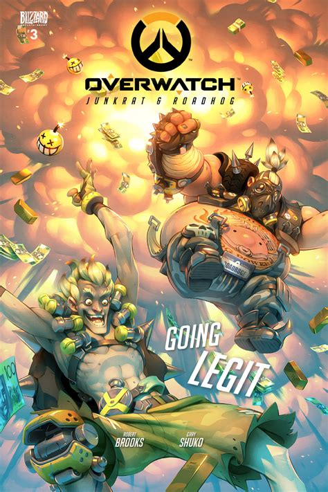 Overwatch Junkrat And Roadhog Comic Cover By Grayshuko On