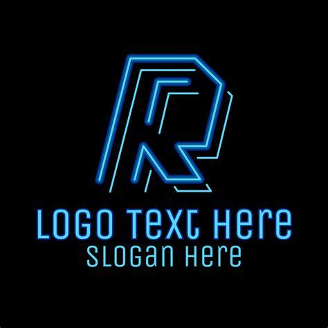 neon retro gaming letter  logo brandcrowd logo maker