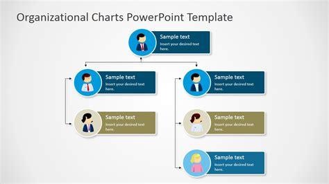 vertical org chart tree diagram slidemodel