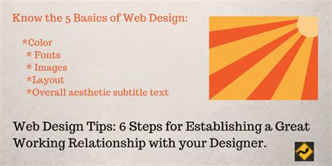 web design tips 6 steps for establishing a great working relationship with your designer