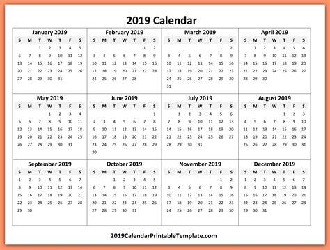 2019 calendar template word 2019 yearly calendar template 2019 calendar printable template holidays free