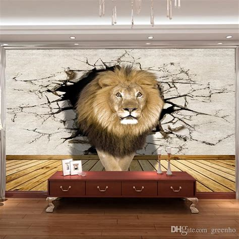 lion photo wallpaper animal world wall mural modern art