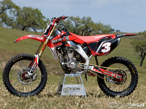 honda motocross bike rocket exhaust honda crf250r project bike photos