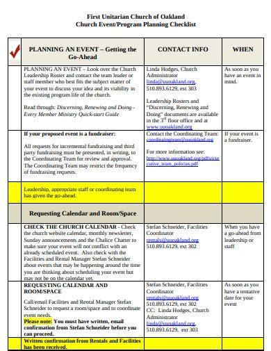 4+ Church Event Program Templates in PDF | Free & Premium ...