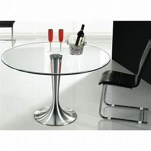Table Basse En Verre Ronde : table ronde en verre pas cher table ronde verre sur enperdresonlapin ~ Teatrodelosmanantiales.com Idées de Décoration