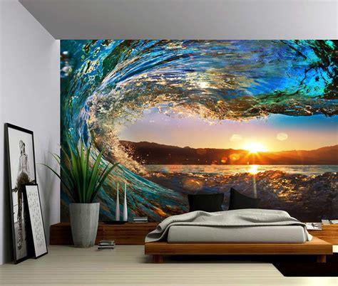 Sunset Sea Ocean Wave Large Wall Mural Selfadhesive Vinyl