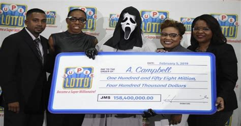dude collecting  lottery winnings   scream mask