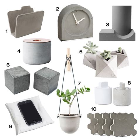 accessory design 10 modern concrete accessories design milk