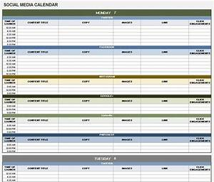18 social media marketing plan template that will make With social media planning calendar template
