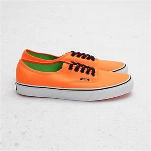 Vans Authentic Neon Orange Green