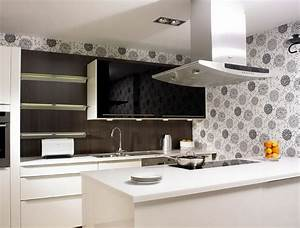 wallpaper for kitchen backsplash homesfeed With kitchen colors with white cabinets with plant print wall art