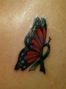 Liver cancer ribbon tattoo. | My Style | Pinterest