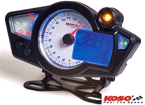 Koso Rx1n White Gp Style Motorcycle Speedo Digital And