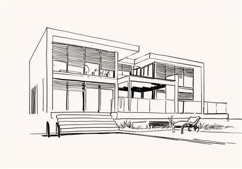 architecture moderne maison dessin