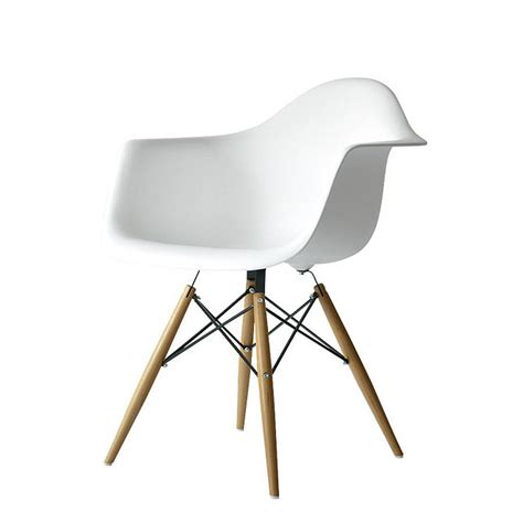 white chaise lounge original eames style dining or office chair jpg