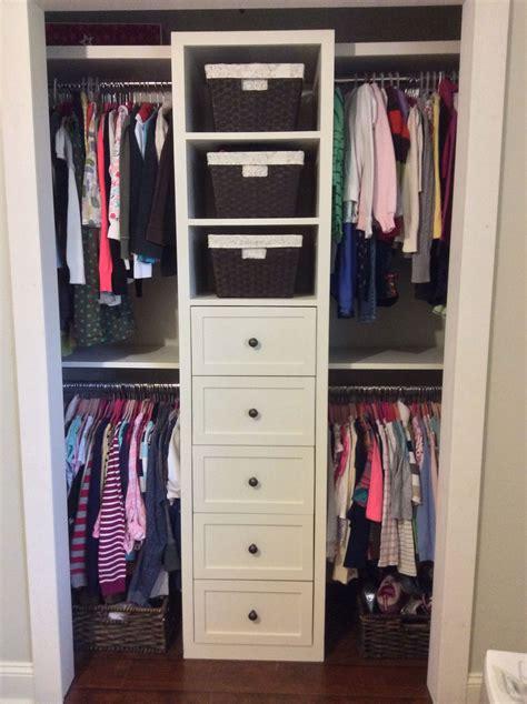 Built In Closet Organization Ideas small shared closet built in redo makeovers