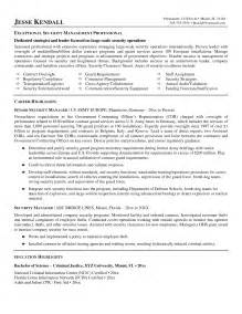 it security director resume 28 images top information