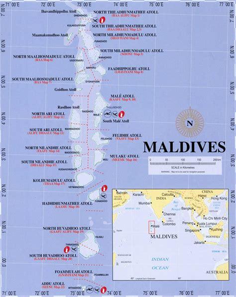 maps  maldives general map  maldives