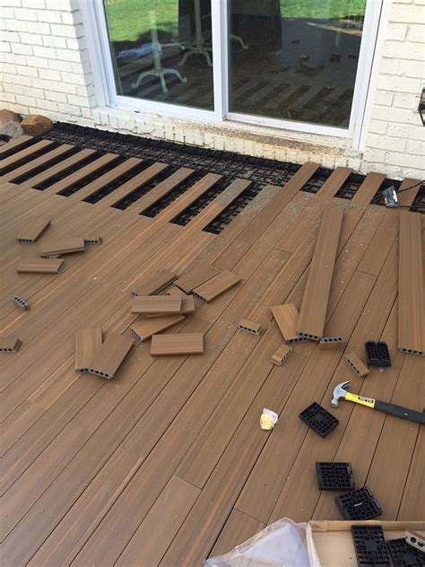what of flooring can i put concrete how to lay deck flooring on a concrete patio laying decking deck flooring and cement