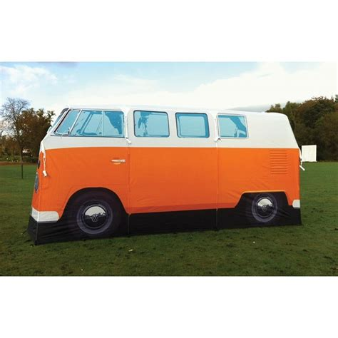 orange volkswagen van vw tent kombi cer van orange