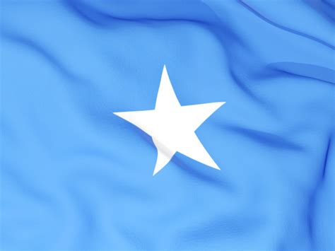 Flag Background. Illustration Of Flag Of Somalia