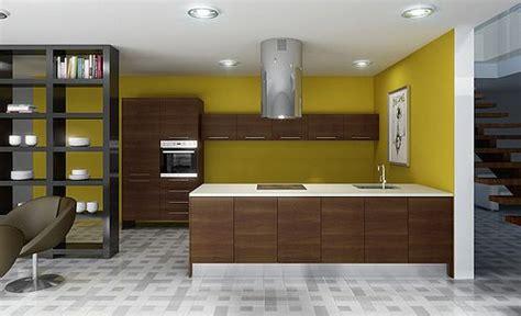 decoracion de cocinas modernas en color amarillo