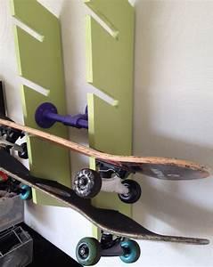 Skateboard Wall Rack Diy Cosmecol