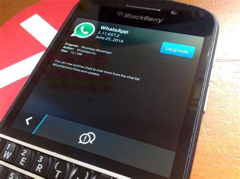 whatsapp beta update lets you archive chats get it from blackberry beta zone crackberry