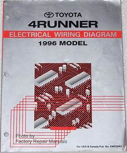 1996 Toyota 4runner Electrical Wiring Diagrams Original Factory Manual