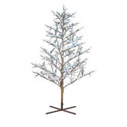 Charlie Brown Christmas Tree Canada by Ge 8 Ft Indoor Outdoor Brown Branch Winterberry Pre Lit