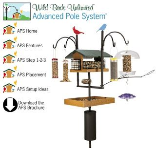 wild birds unlimited create the best bird feeding pole system