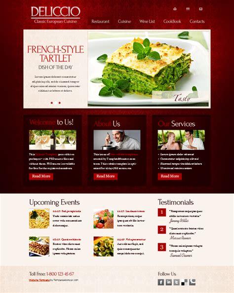 restaurant website templates 25 restaurant cafe html website templates free premium