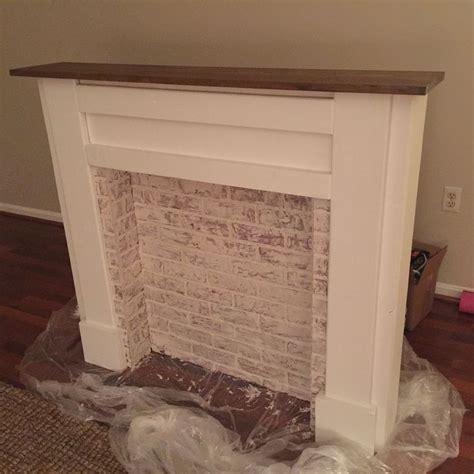 faux mantle ideas  pinterest faux fireplace