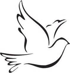 White Dove clipart rip - Pencil and in color white dove ...