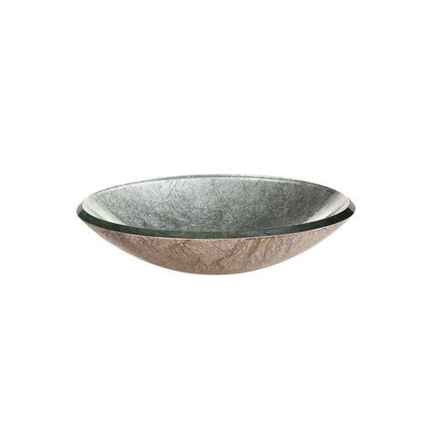 Silver Vessel Sink Home Depot by Ryvyr Reflex Metallic Vessel Sink In Metallic Silver
