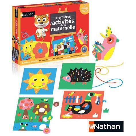 jeux interieur pour maternelle nathan les ateliers de la maternelle achat vente jeu d apprentissage cdiscount