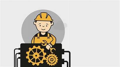 Machine Animation Working Clip Shutterstock