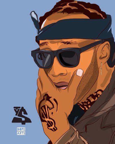 rapper drawings images  pinterest hiphop