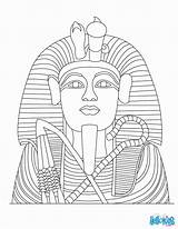 Coloring Pages Egypt Tutankhamun Egyptian Tut King Ancient Statue Pharaoh Colouring Hellokids Template Sheets Drawing Printable Gold Colorear Linea Coffin sketch template