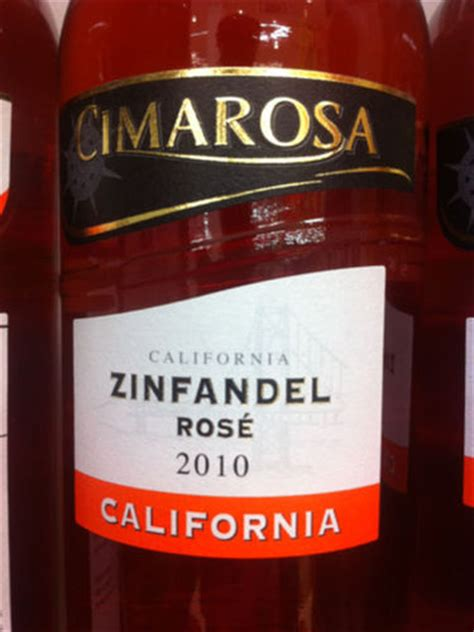 cimarosa zinfandel rose  wine info