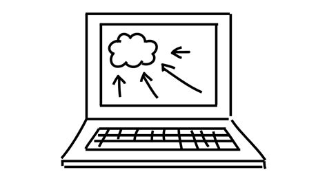 cloud computer  drawing illustration animation