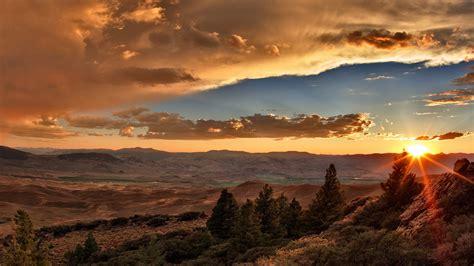 Mountain Sunset Wallpaper Wallpapersafari