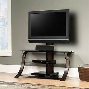 Table Tv But : sauder select veer mounted tv stand cherry finish 413906 sauder ~ Teatrodelosmanantiales.com Idées de Décoration