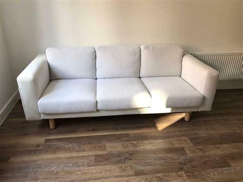 ikea sofa norsborg ikea norsborg 3 seater sofa finnsta white in burwell cambridgeshire gumtree