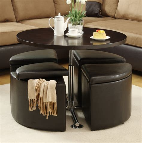 Can't decide between a coffee table and an ottoman? Coffee Table With Pull Out Ottomans   Roy Home Design