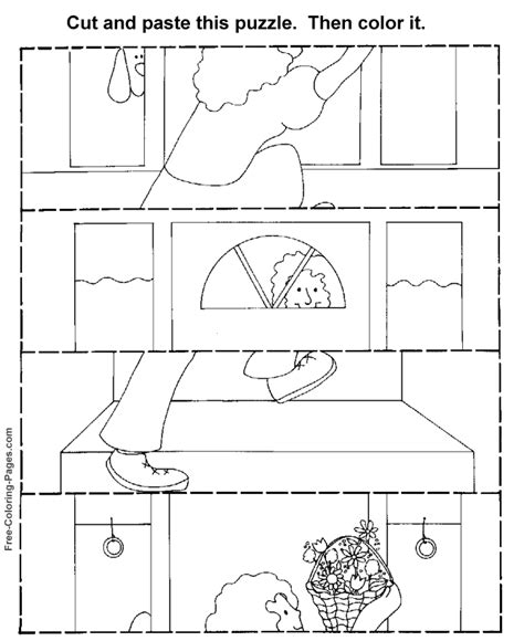 free cut and paste worksheets coloring pages