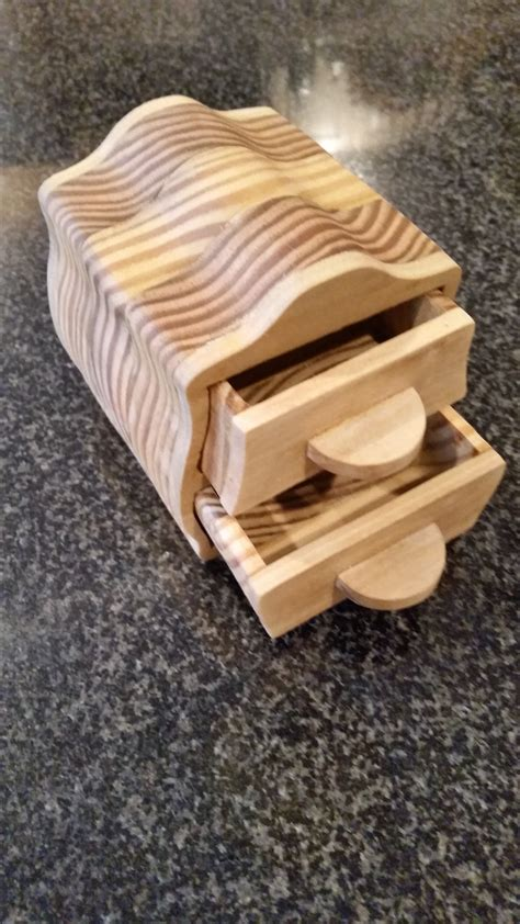 scroll  jewelry box  scrap wood bandsaw box